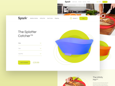 Spark eCommerce Website illustration user interface user experience ux ui branding web design