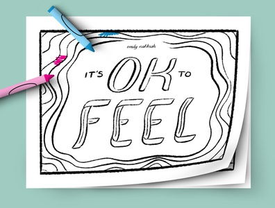 It's OK to FEEL coloring book - 1 coloring book illustration