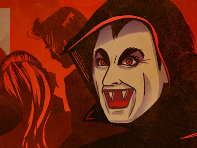 Red Scare illustration poster vampires