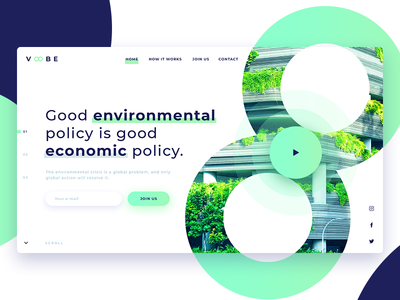 Green Voobe Landing Page