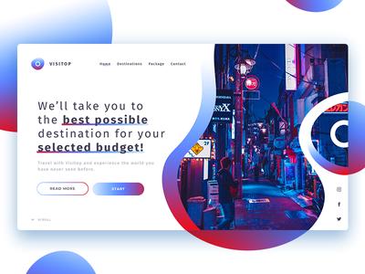 Visitop Landing Page