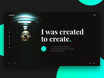 Creadsn Page cyan green landing ui page ux decom blue design creative modern