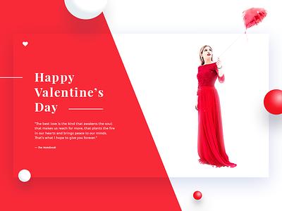 Happy Valentine's Day Dribbble ❤️ heart ui modern red decom day happy girl love valentine