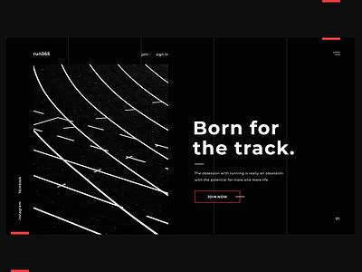 Run365 minimal grey red decom dark black running fitness track run