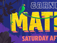 Carnival Matinee Poster Illustration - Type Detail