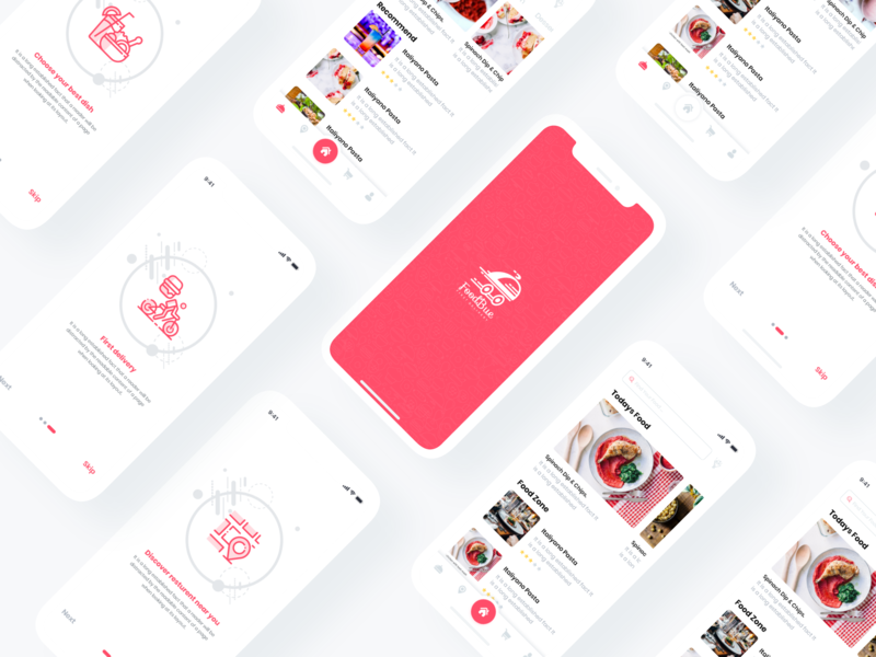 Foodbuy UI Kit food app online ordaring online delivery resturant food and beverage food uikit apps mobile apps ios saad khan ux android creative kit ui new design