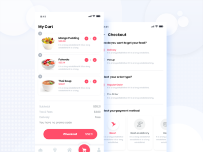FoodBuy's cart & checkout UI.