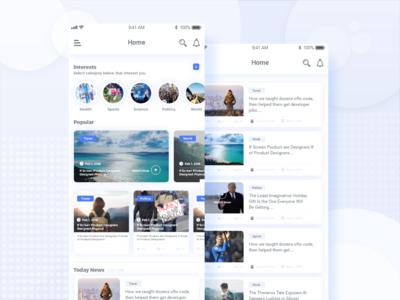 News app UI.