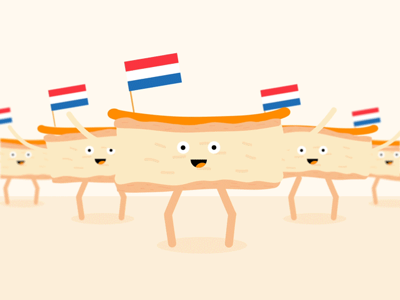 Tompoucenparade 👑 looped ae animatie rubberhose tompoucenparade tompouce koningsdag