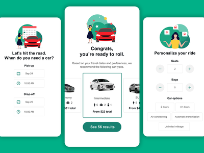 Search Concept for Rental Cars