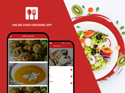 Online Food Ordering app online food ordering app graphic design branding ux ui