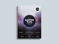 Electro Wave / Music Poster