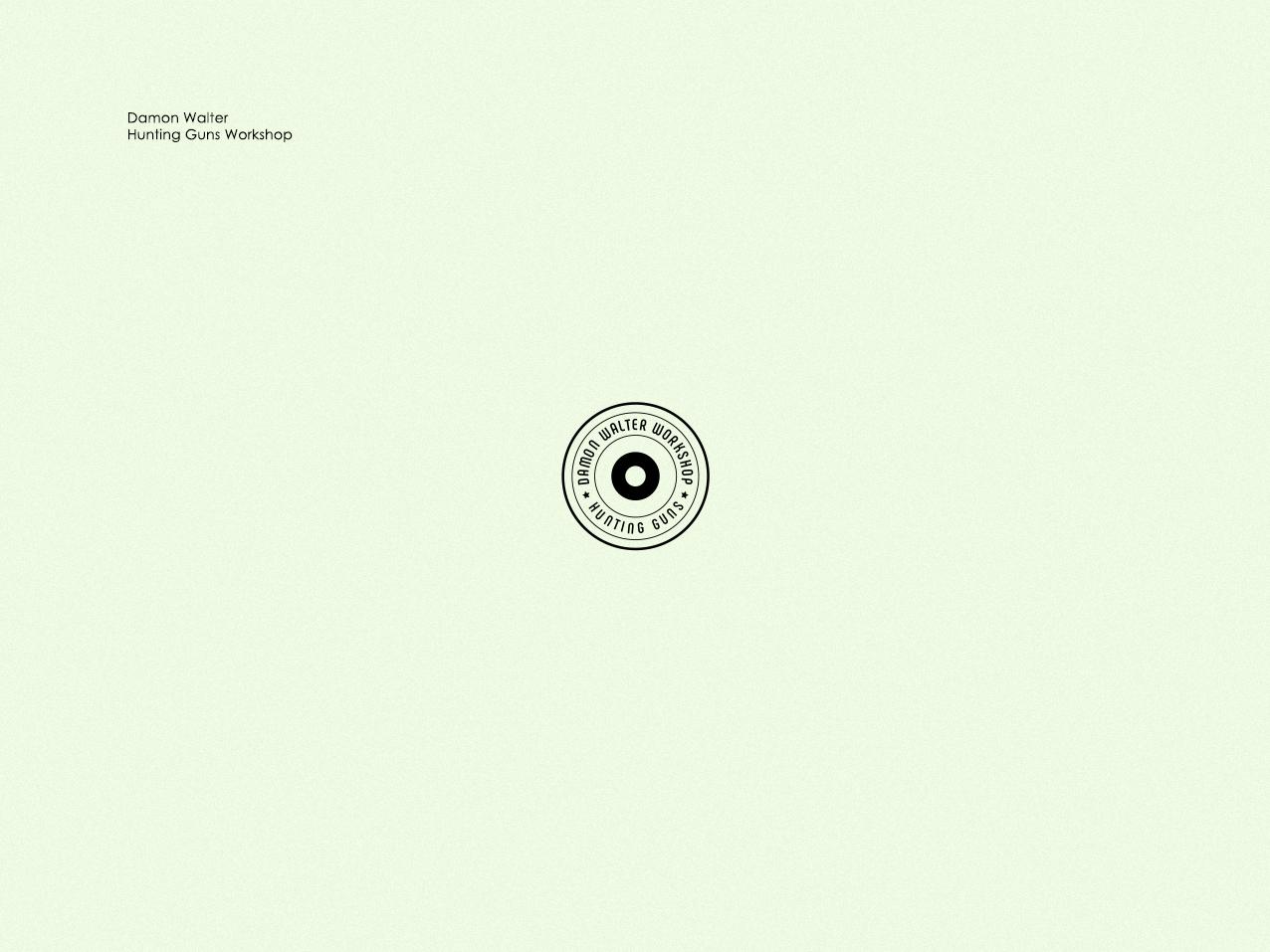 Damon Walter. Hunting Guns Workshop vintage style vintage logomark geometric simple minimal logo