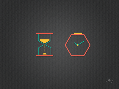 Time Icons icons hour glass clock watch download free colours time