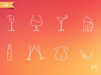 Free Bar Icons icons free line icons bar icons neelakandan vector