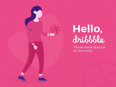 Hello Dribbble! illustration debut
