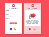 Interlinea Bus Sign Up