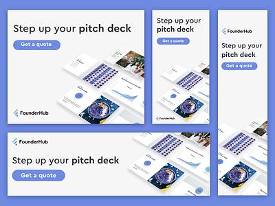 Retargeting Campaign for Founderhub Design Services pitchdeck founderhub web banners ads marketingstrategy digital design design