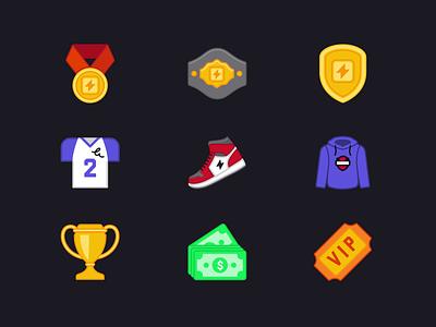 Gonestreakin icons: Merch and bonuses bonuses merchandise trophy champion money hoodie sneakers sports icons