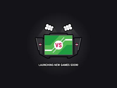 Gone Streakin: Illustration 2 fantasy sports coming soon competition spotlight sports game scoreboard no games placeholder illustration