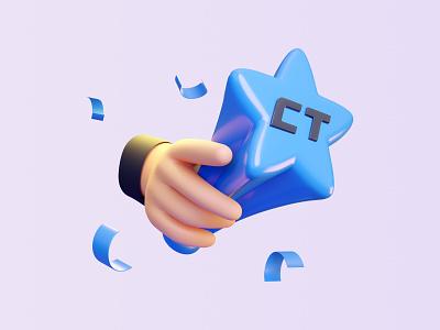 Stavka: Be the best of the best gambling celebrate winner win 3d illustration 3d blender hands trophy bet illustration