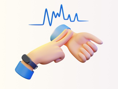 Stavka:  Keep your finger on the pulse sports gambling subd blender3d 3d illustration 3d hands applewatch miband heartbeat pulse