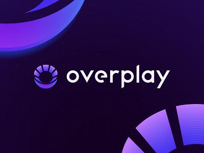 Overplay: Branding grid gradients tournaments esports gaming identity logo branding