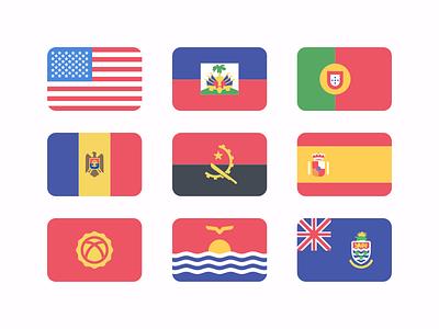 Freebies: Flat Flags 227 🏳️🌈 portugal australia america asia europe world ai free freebie flat flags flat world flags