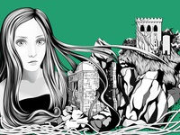 Ériu - Goddess of Ireland - Illustration