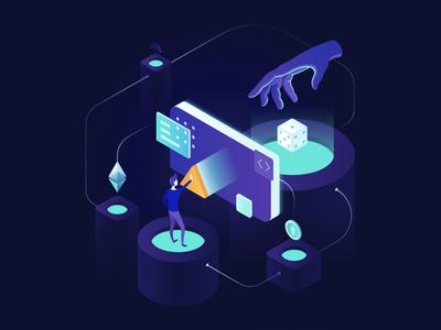 Illustration: Blockchain effect in gambling