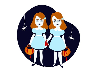 Illustration: Trick or treat with Grady twins