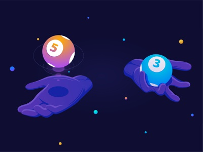 Dao.Lottery: Cover illustration illustration casino presentation dao juggling hands lottery cryptocurrency blockchain