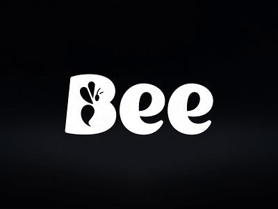 Bee: Branding honeybee animal logo type lettering honey brand honey bee logo bee identity logo branding
