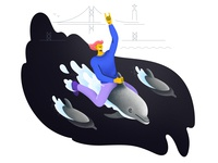 Tejo Dolphin Ride: Illustration