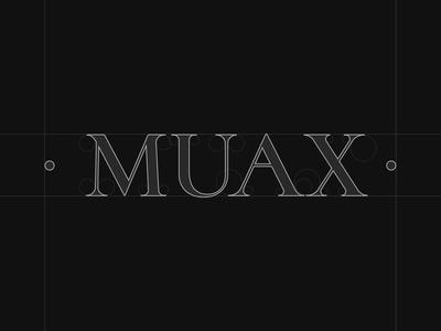 MUAX: Logo mua beauty makeup artist portugal identity logo grid logo branding