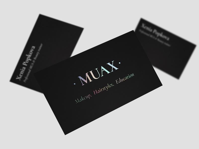 MUAX: Business Card design agency branding studio branding agency holographic business cards holographic business card identity logo branding