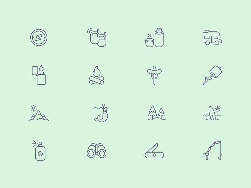 Tender Icons: Nature Vol. 2 outline icon tender icons icons pack icon set trekking hiking outdoors outdoors icons trekking icons hiking icons nature icons iconfinder