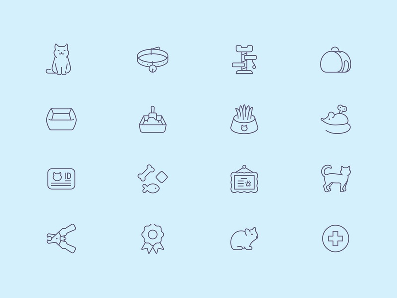 Tender Icons: Pet Shop Vol. 2 pet food pet care cat veterinary pet shop pet icons icon design icon set icons iconfinder