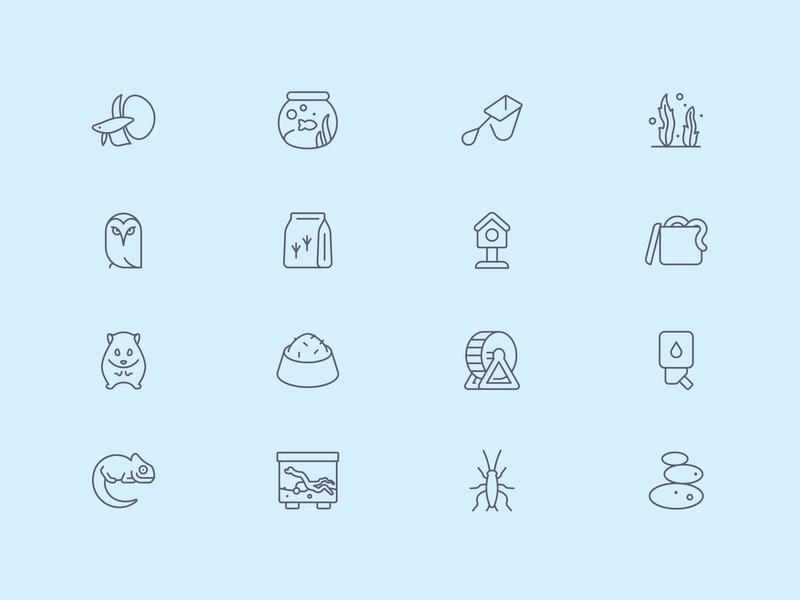 Tender Icons: Pet Shop Vol. 3 veterinary pet shop pet icons pet food pet care icon set iconfinder icons icon design chameleon owl hamster cat