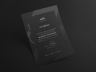 MUAX: Completion certificate