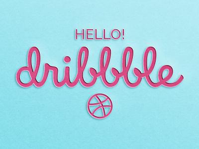 Hello Dribbble! illustration photoshop typography