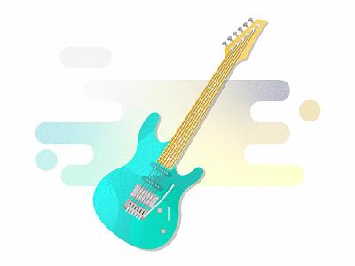 Electric Gradients strings music gradients illustration guitar