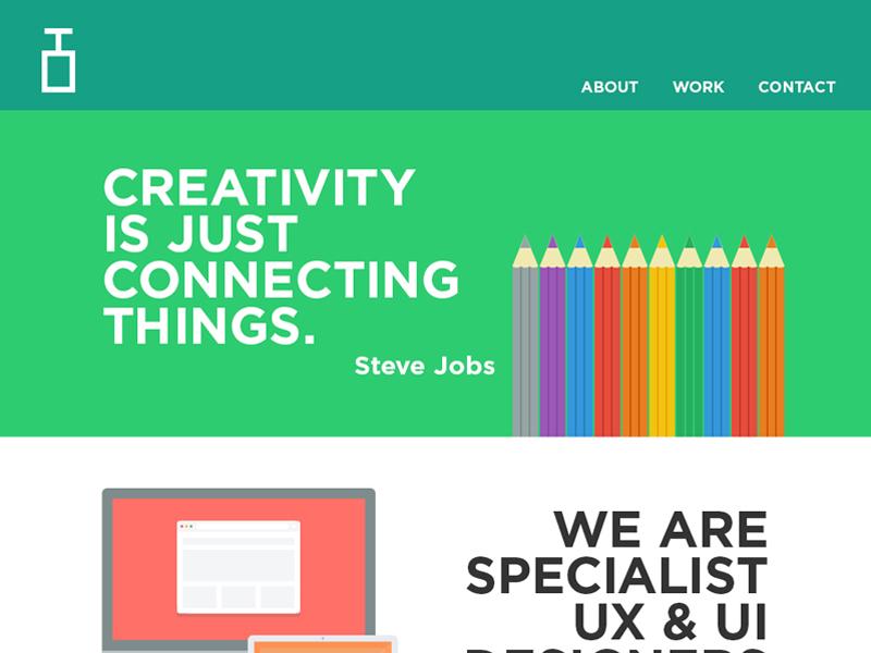 Explosive Brands website website user interface user experience design web design graphic design flat ui