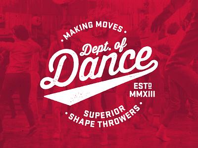 Dept. of Dance t-shirt dance logo