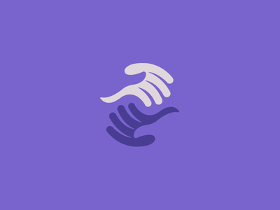 Helping Hands hand hands care wings dementia support thumbs negative space ying yang