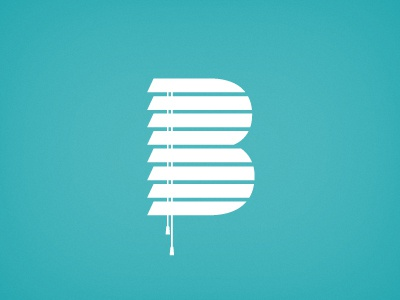 Blind Co. (WIP) blind blinds b logo identity