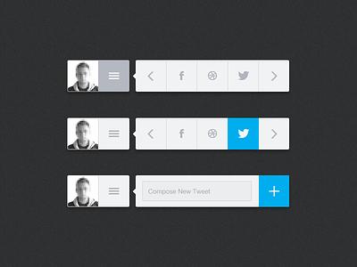 Share Widget ui share widget share widget social widget social twitter menu profile