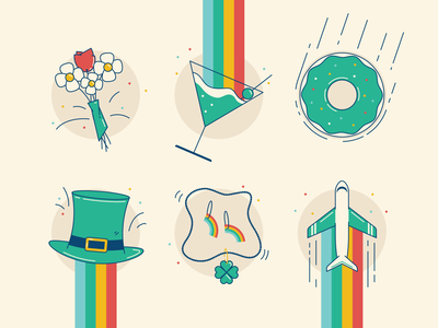 St. Patrick's Day Illustrations leprechaun donut lucky luck irish rainbow green patricks day st. patricks day st patricks day