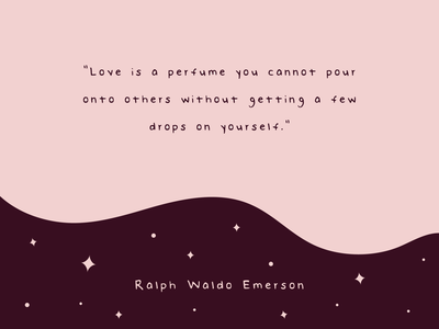 Perfume Quote blobby cute wave space stars quote design love smell scent perfume