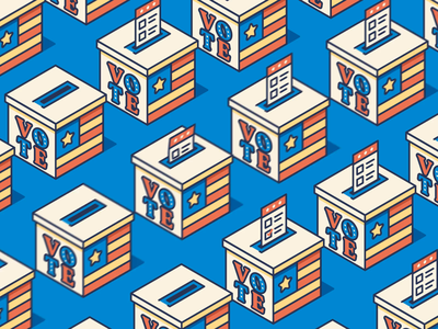 Voting Ballot Animation after effects isometric illustration america election president isometric animation voter ballot voting vote